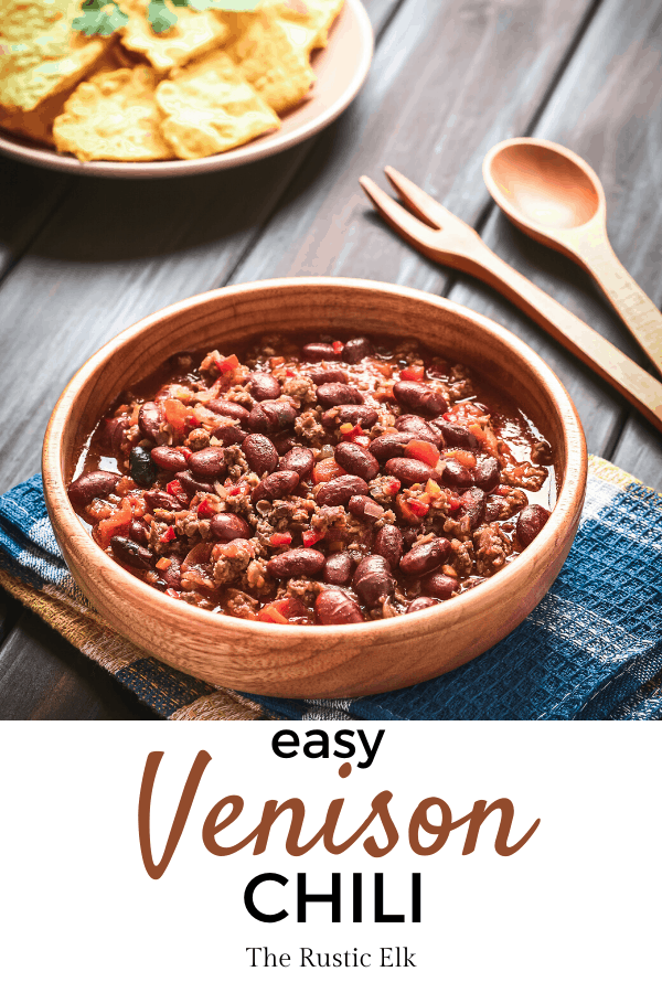 A big bowl of venison chili.