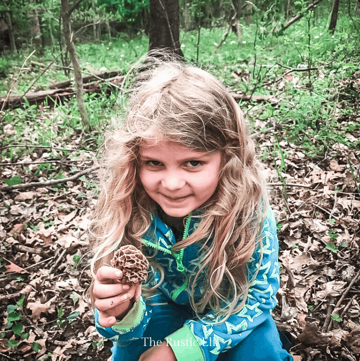 Kids can be excellent at finding morels.