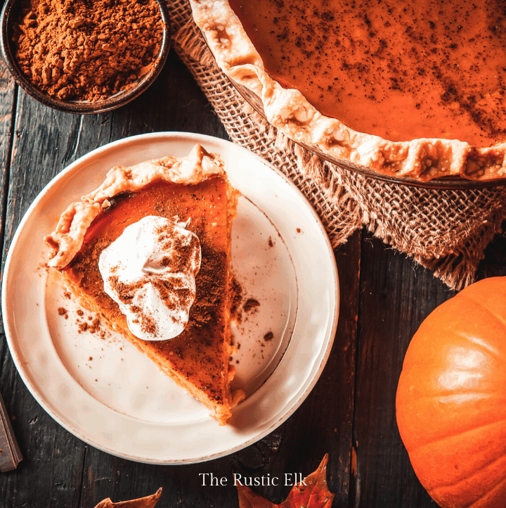 Slice of maple pumpkin pie