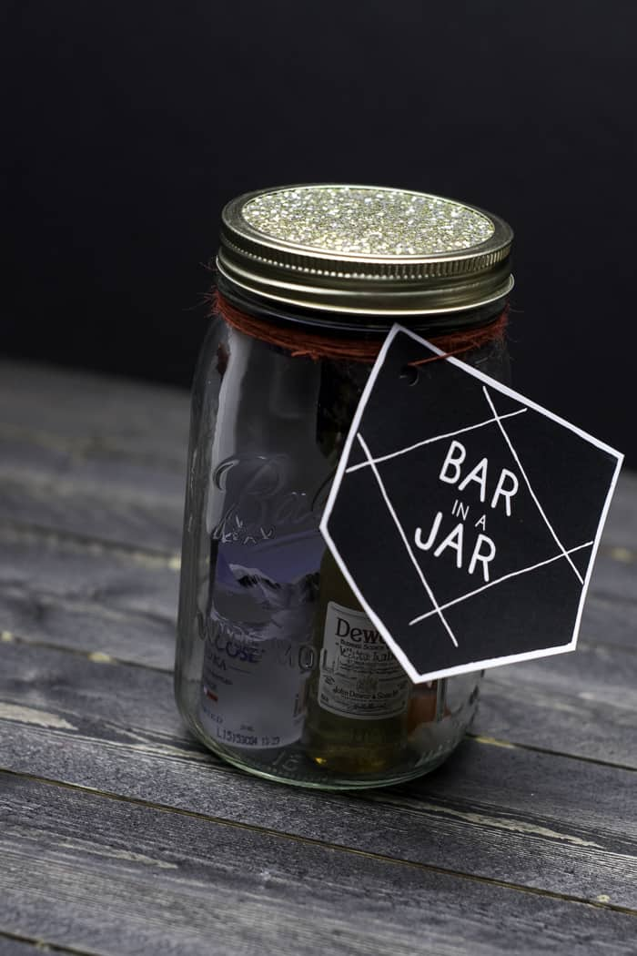 Bar in a Jar Gift Idea