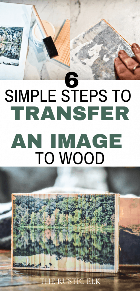 Transferring an image to wood is easy.